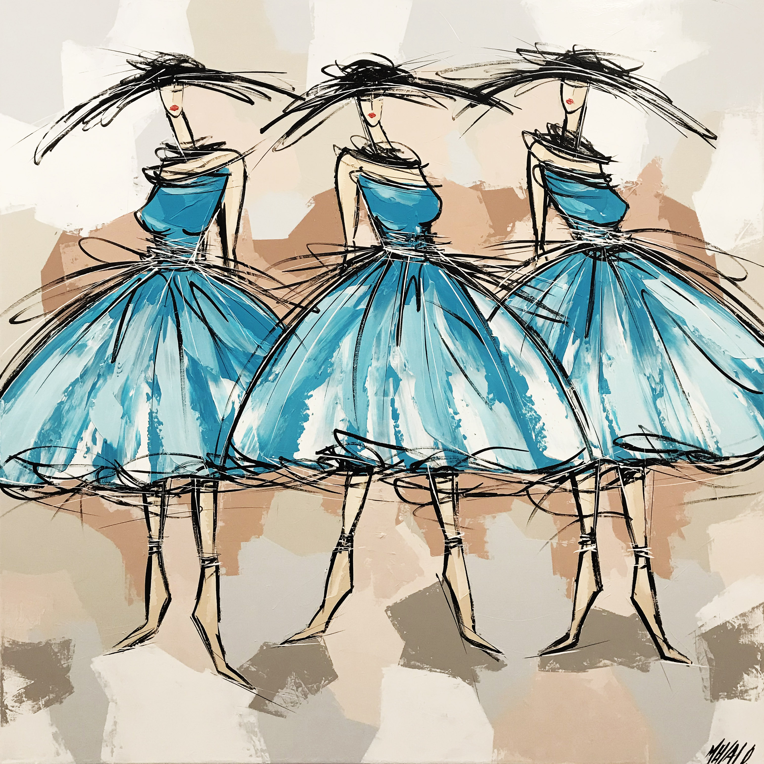Les danseuses bleues...
