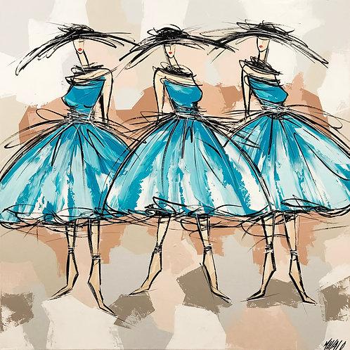 Les danseuses bleues.. | 100x100cm