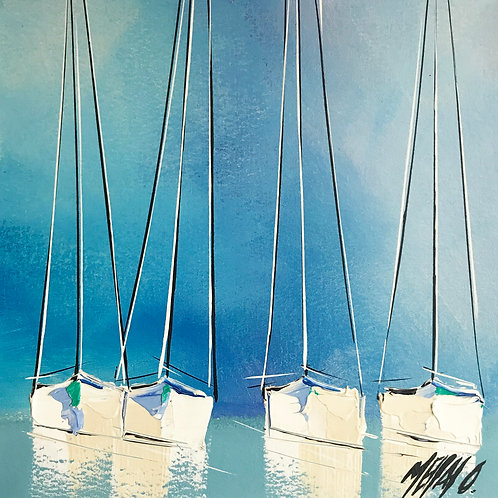 Reflets... | 19x19cm [cadre 40x40cm]