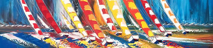 Les voiliers de la liberté... 100x250cm.