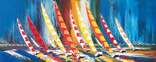Les voiliers de la liberté... | 100x250cm