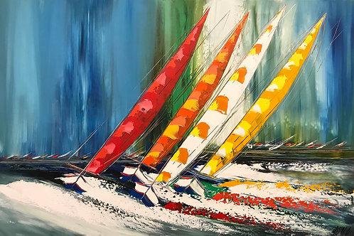 Un vent de liberté... II | 100x150cm