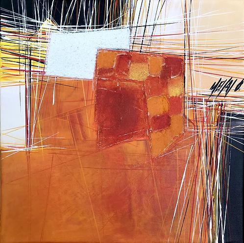 Paysage en orange... IV   30x30cm
