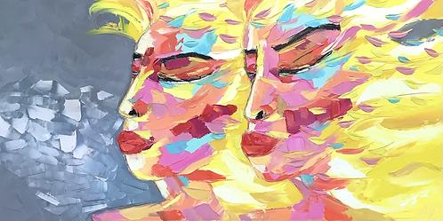 Les Jumelles… | Portrait 028 | 60x120cm