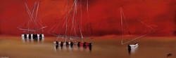 Marée basse II, 40x120cm