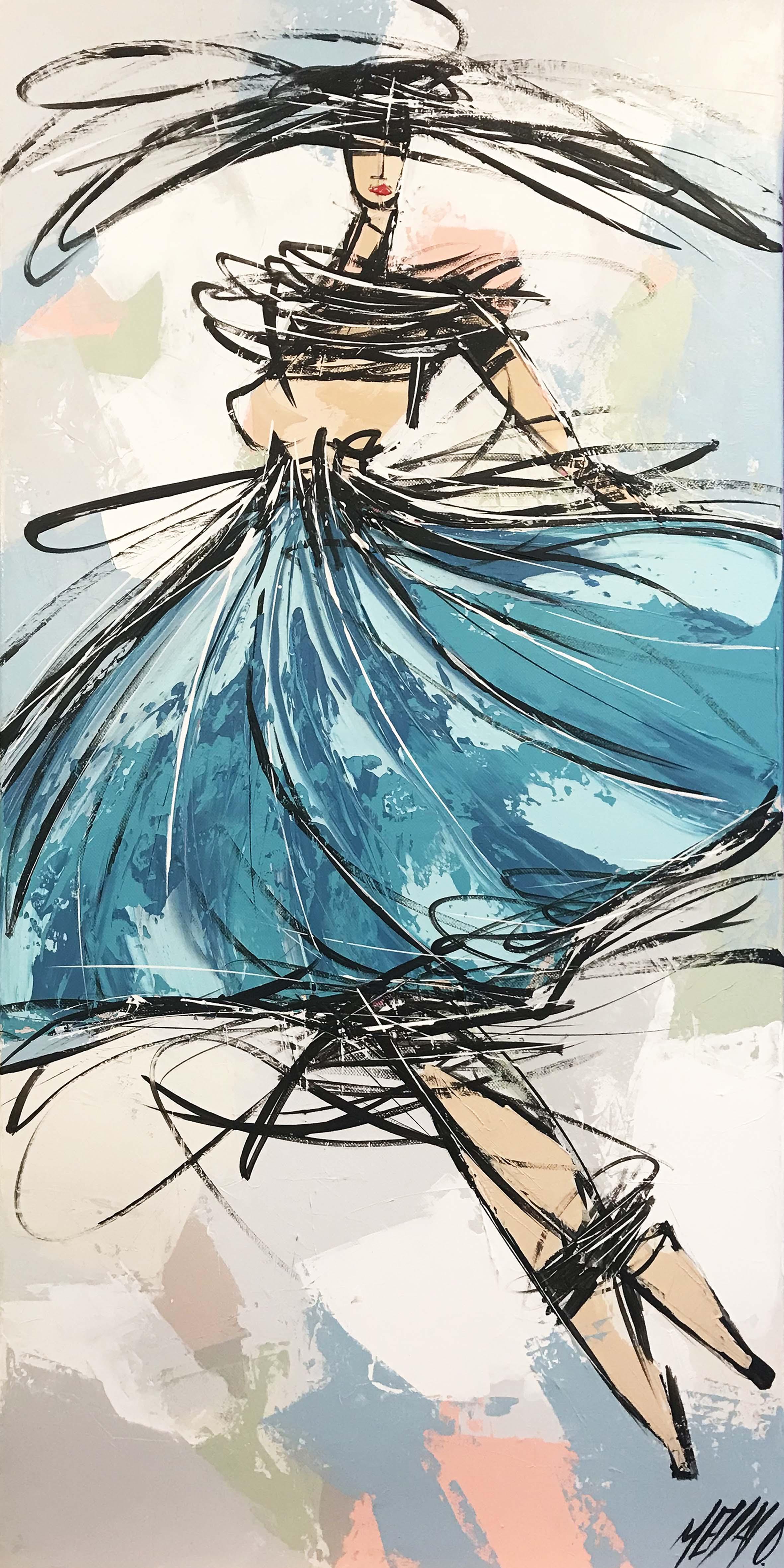 La danseuse bleue... | 80x40cm