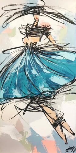 La danseuse bleue...   80x40cm