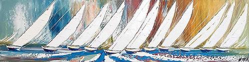 Les voiles blanches... | 40x160cm