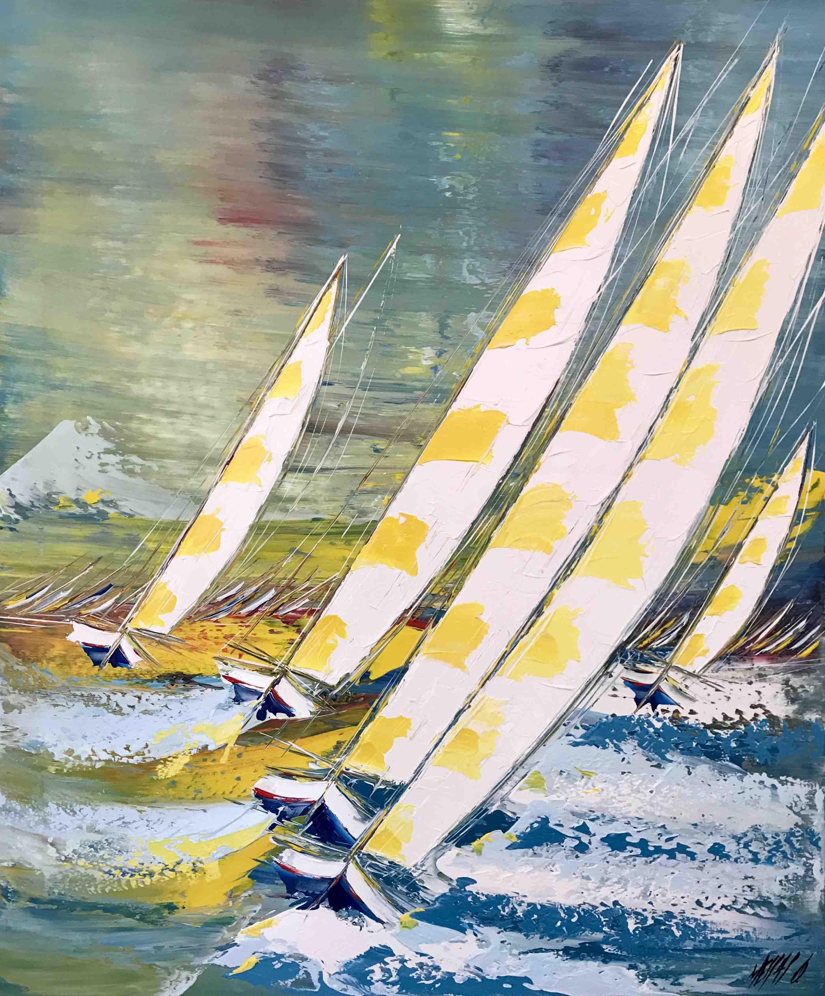 Les voiles de Saint-Tropez, 120x100