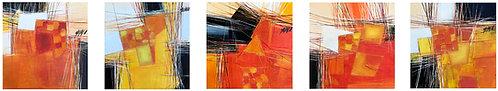 Paysage en orange... IV-V-VI-VII-VIII | 30x150cm