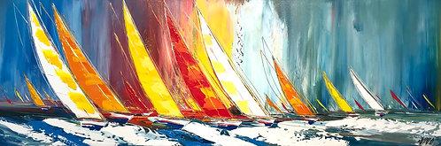 Les voiliers de la liberté... II | 40x120cm