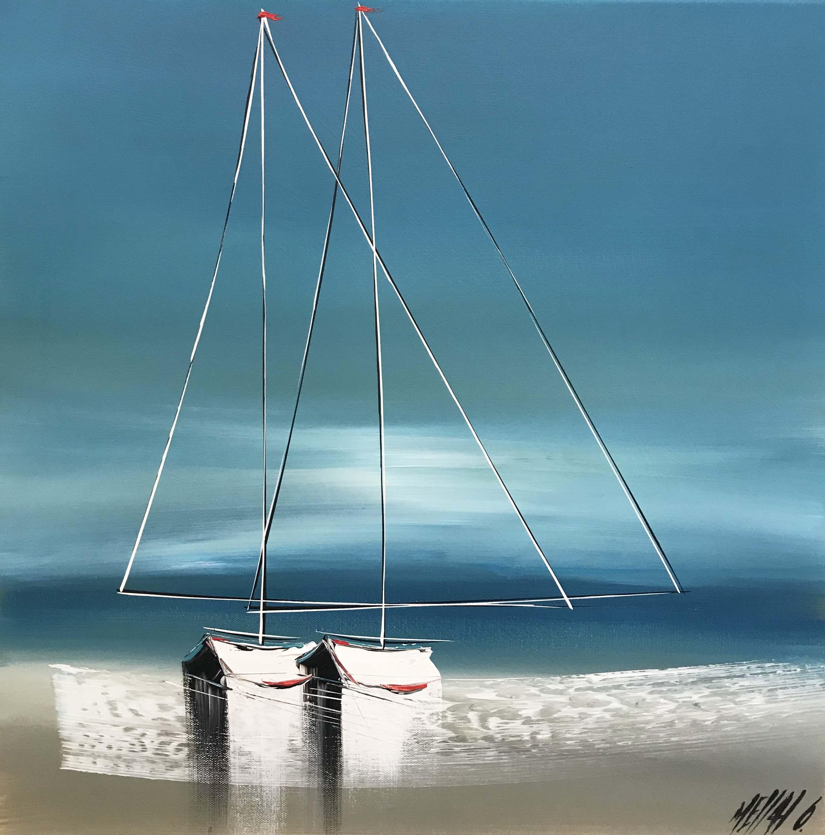Portés par les vagues...   50x50cm
