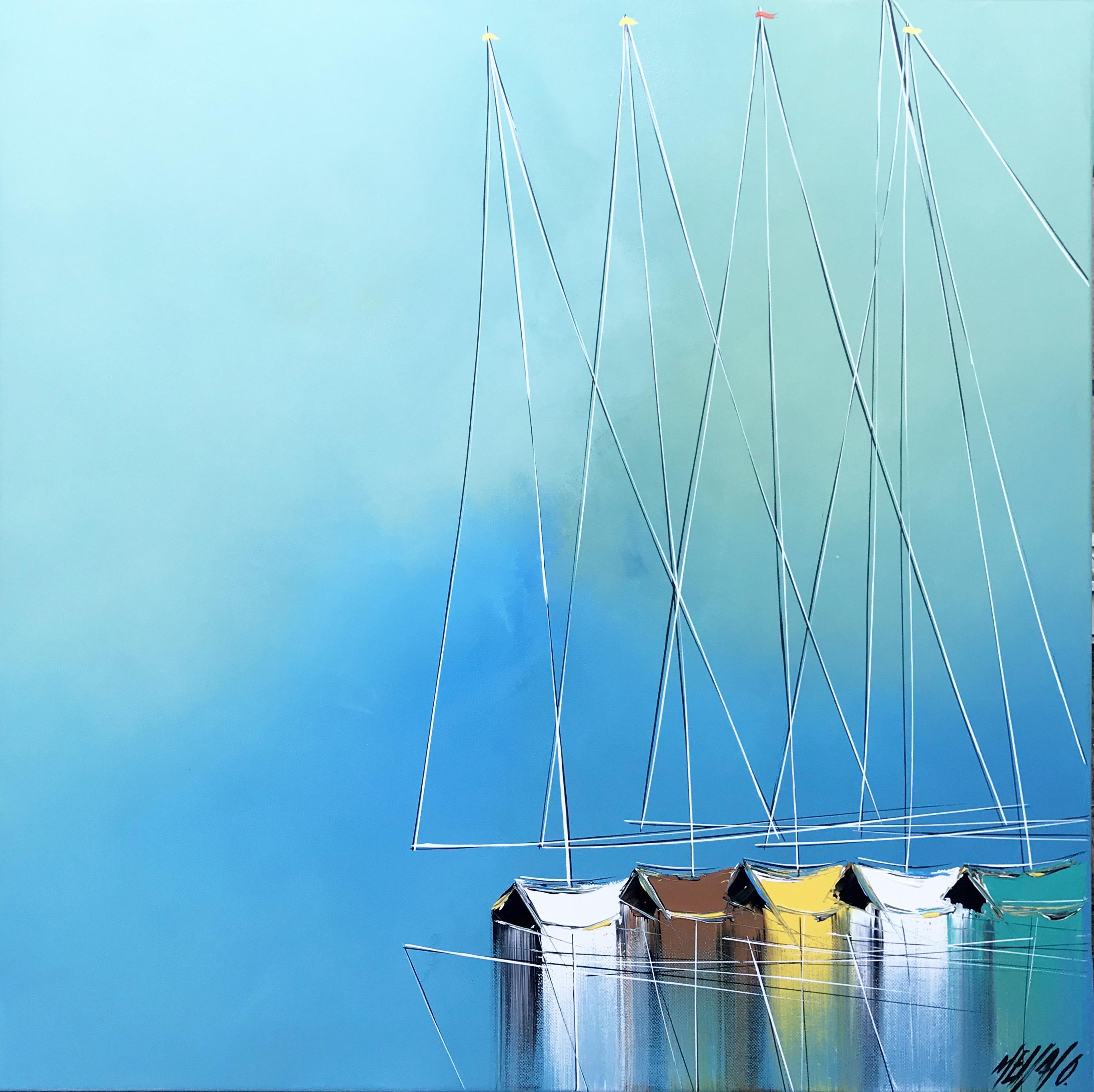 Un océan bleu... | 60x60cm