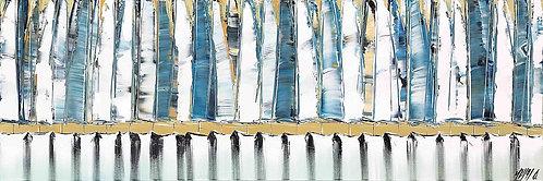 Les voiles bleues... | 40x120cm