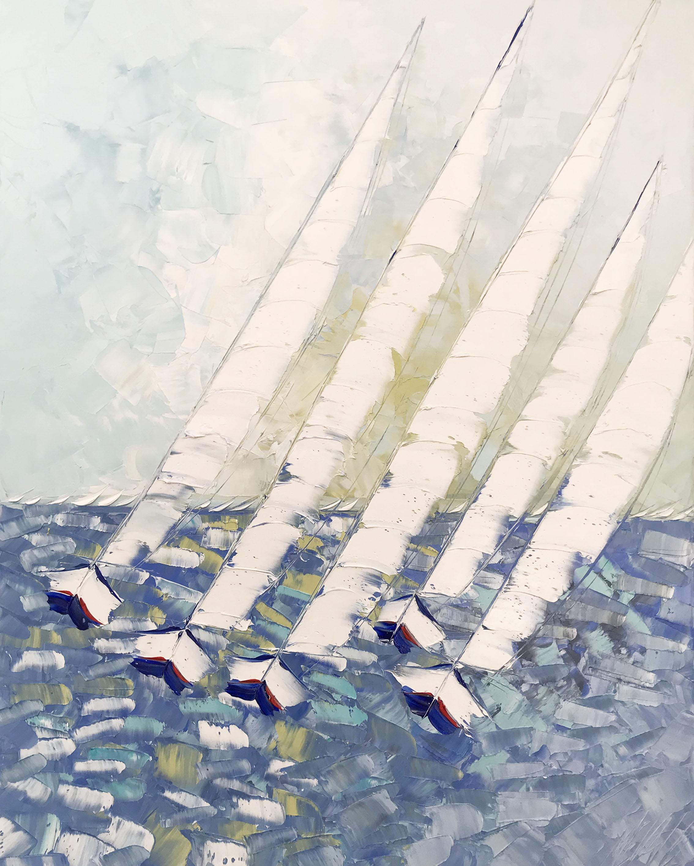 Le vent dans les voiles... | 100x80cm