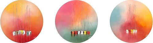 Composition ESPRIT VOILE... XIX | 80x320cm (triptyque)