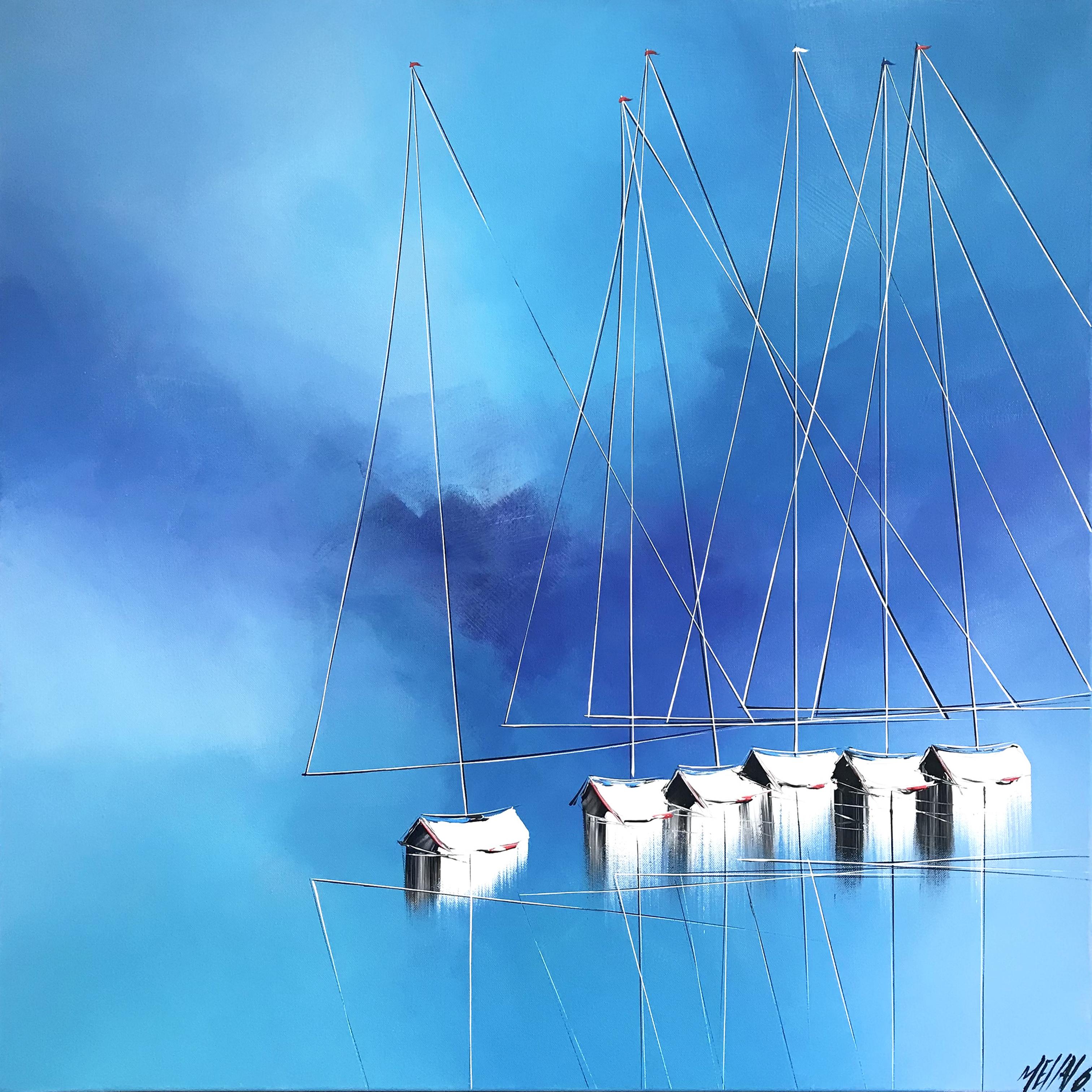 Un océan bleu azur...   80x80cm