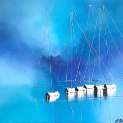 Un océan bleu azur... | 80x80cm