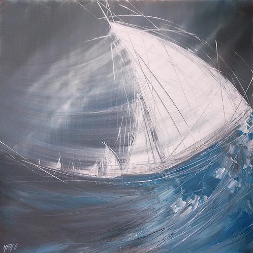 Le vent dans les voiles... II | 60x60cm