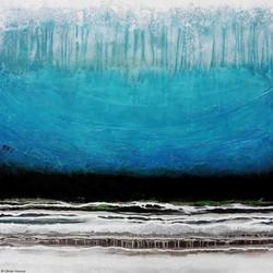 Atmosphère bleu, 100cm x 100cm