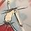 Thumbnail: La fille à la robe rouge... | 80x80cm