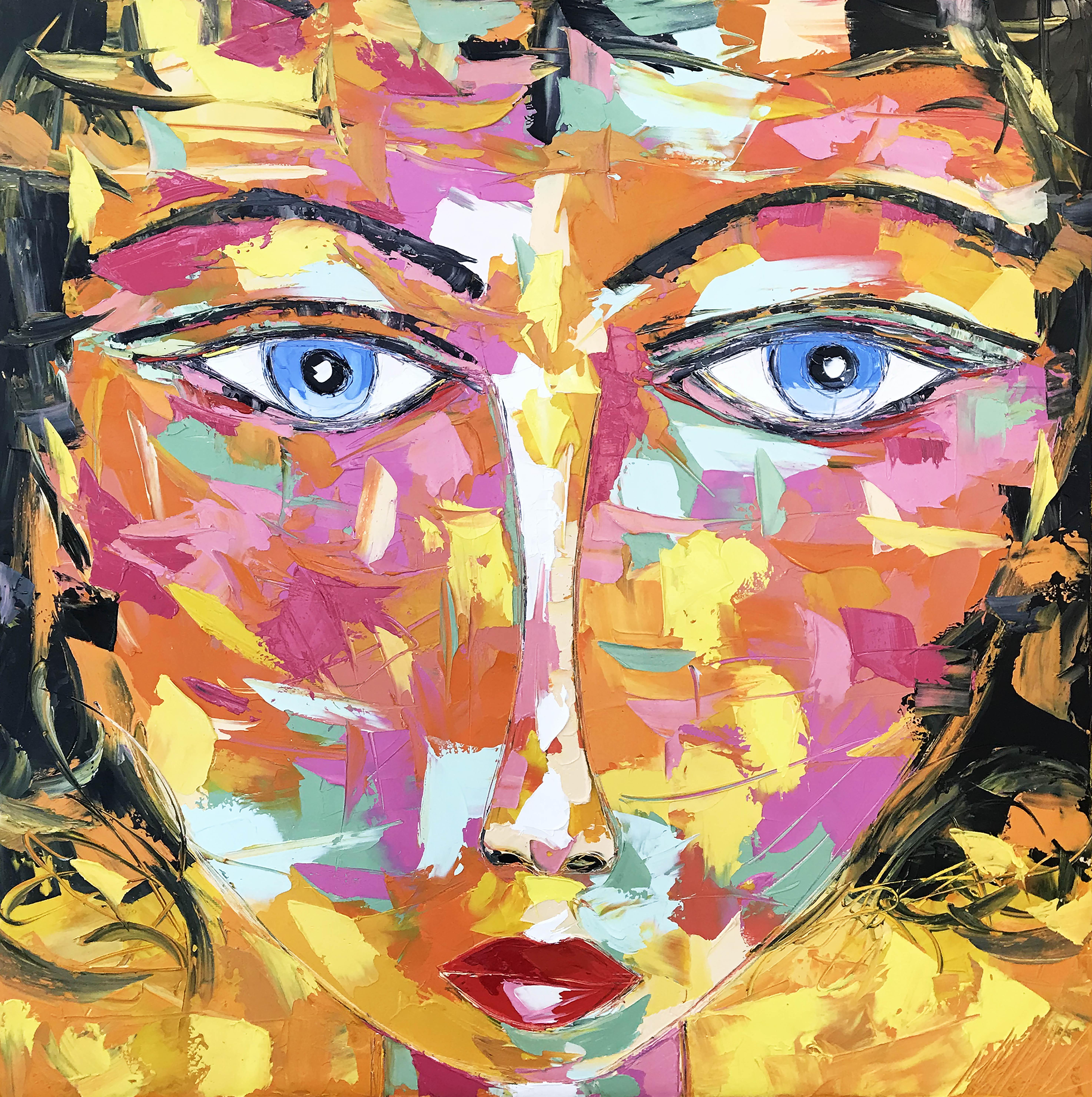 "ELVIRA ""Portrait 19""   100x100cm (2020)"