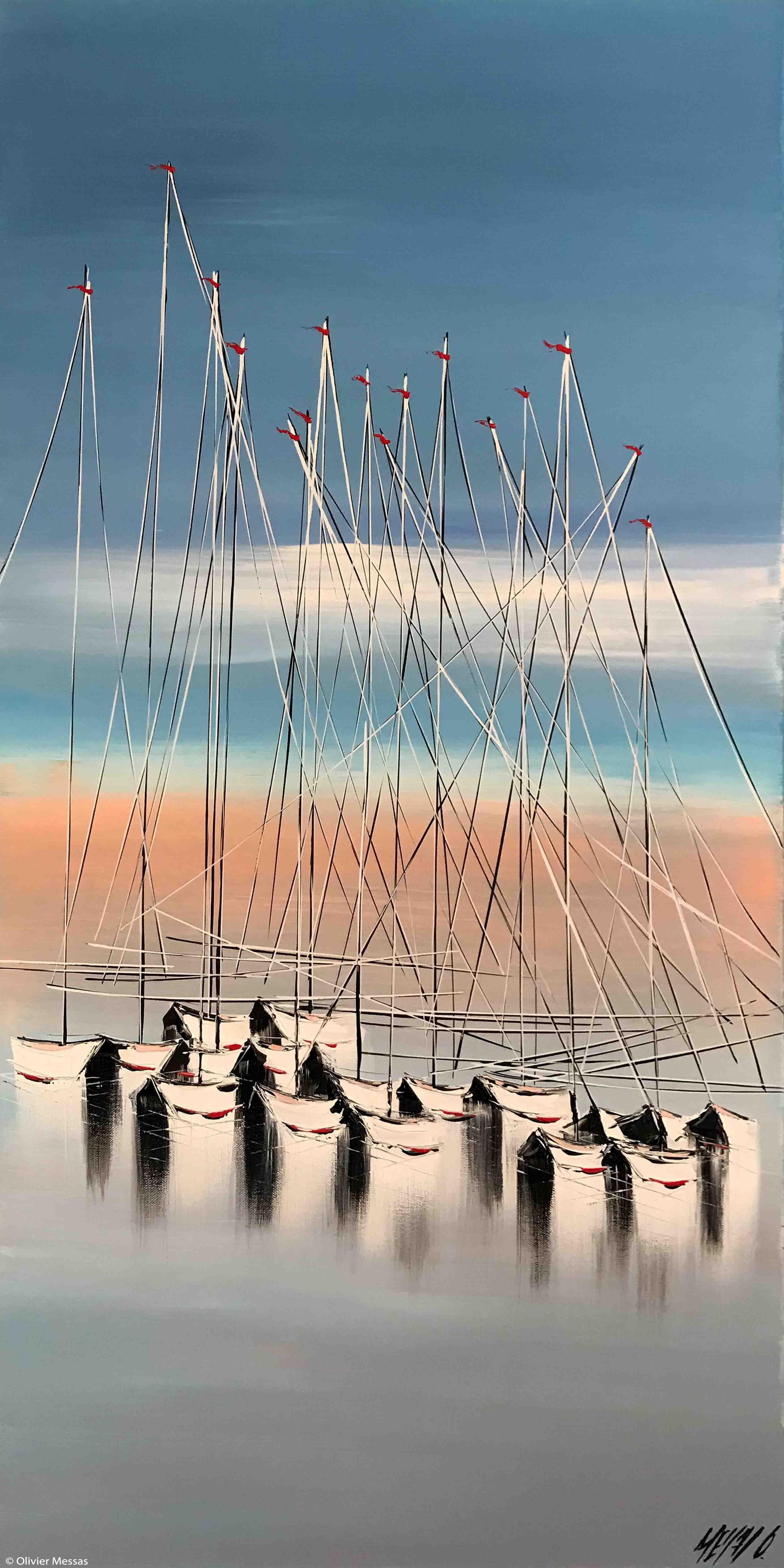 Jeux de mâts..., 100x50cm