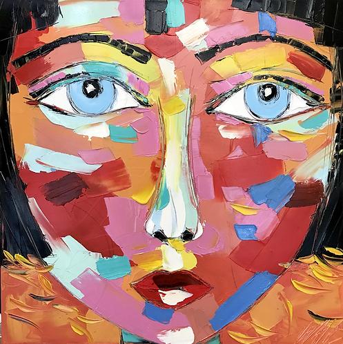 AKIRA   Portrait 026   50x50cm