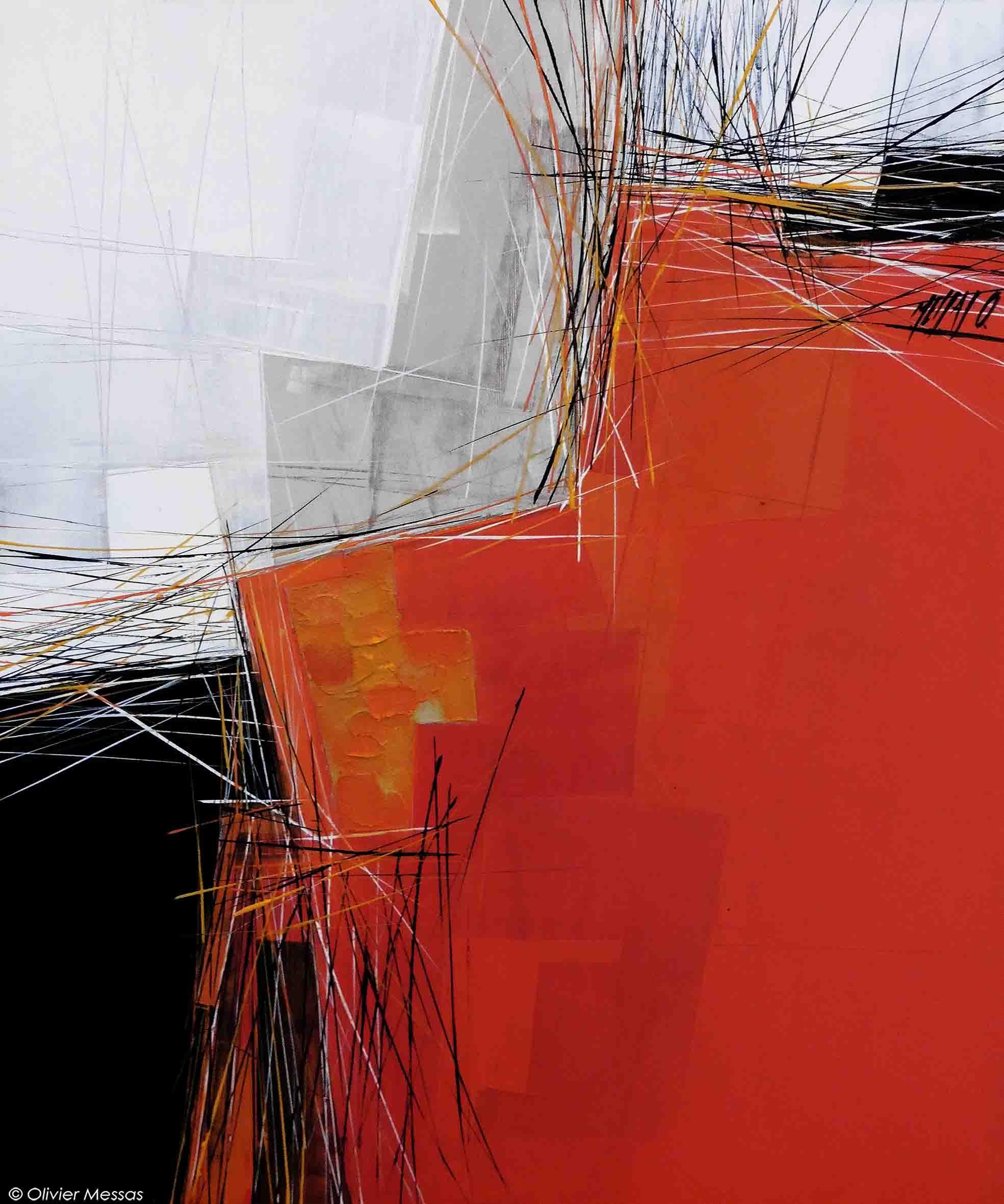 Paysage orange IV, 60cm x 50cm