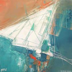 Voile et abstraction - 45cm x 45cm