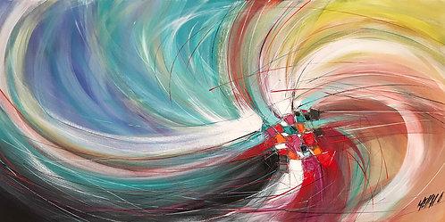 Une vague de liberté... | 60x120cm
