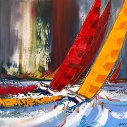 Un vent de Liberté..., 100x100cm