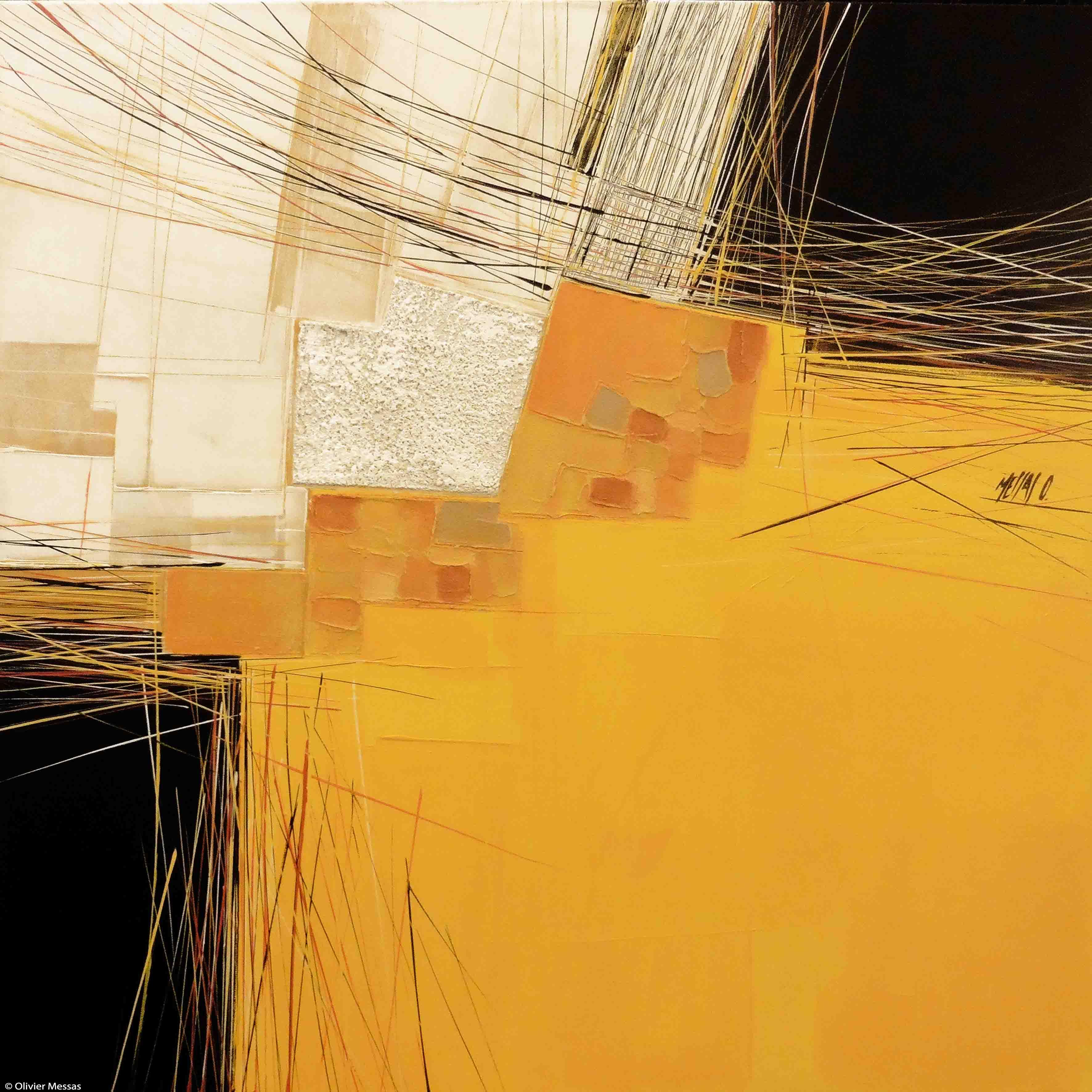 Paysage en jaune, 80x80cm
