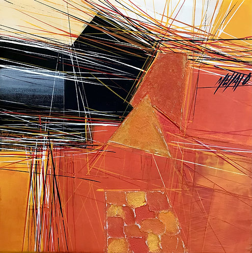 Paysage en orange... VI | 30x30cm