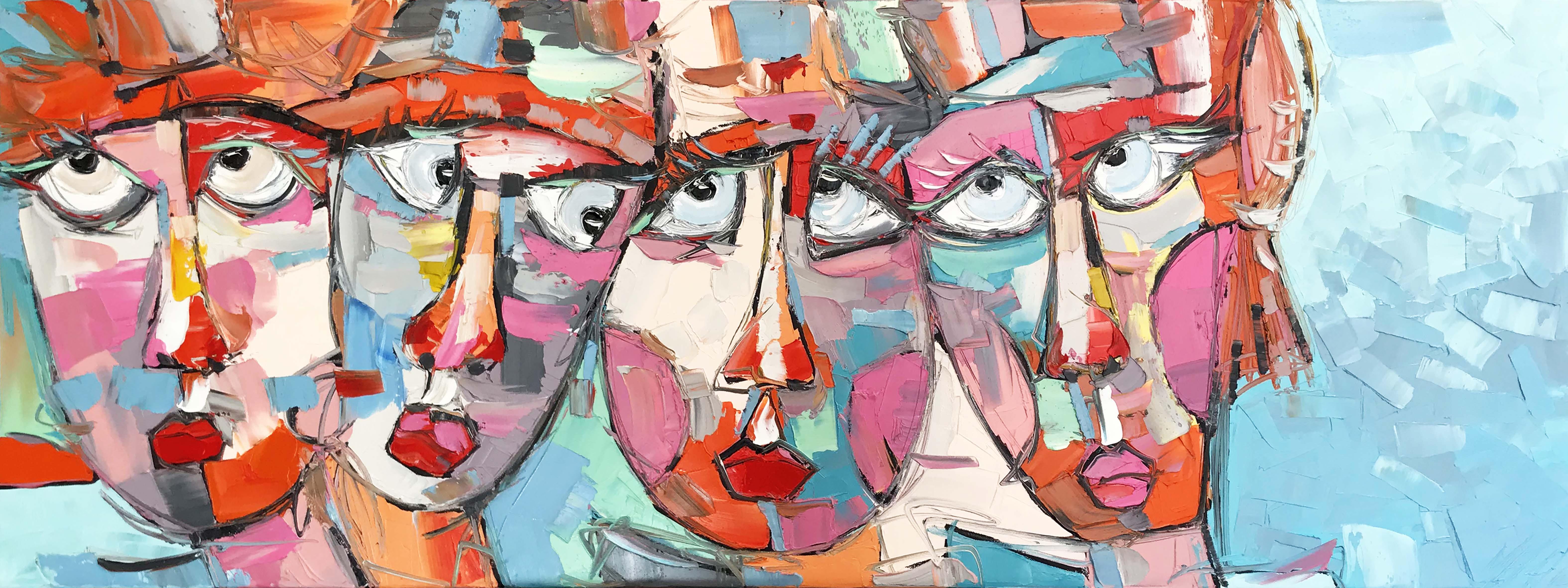 QUI A MANGÉ LE DERNIER BROWNIE ?   Portrait 22   60x160cm (2020)