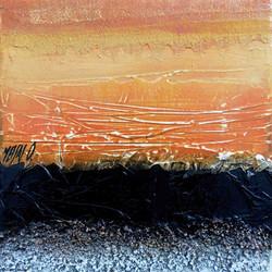 Atmosphère orange III,  20cm x 20cm