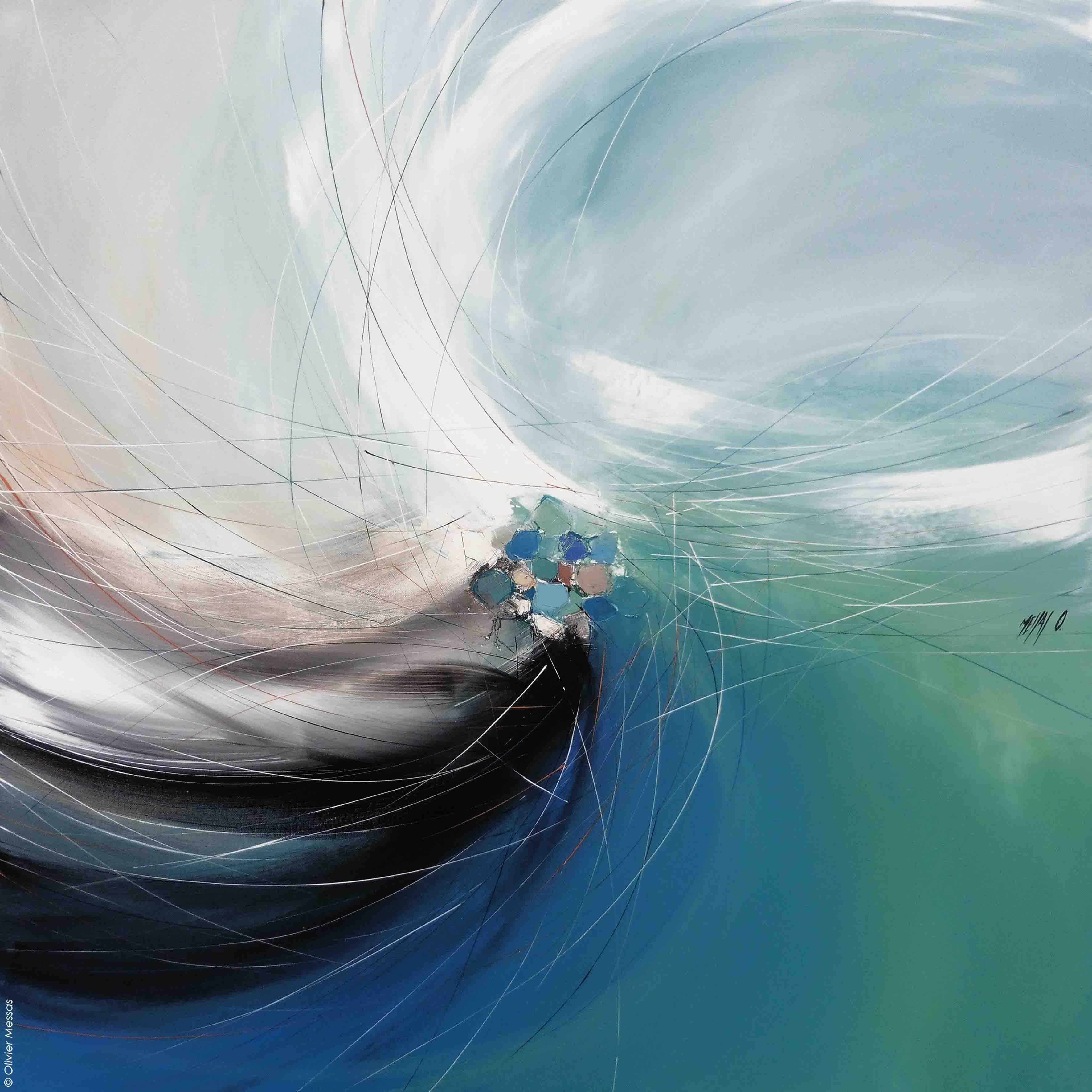 Une vague de liberté..., 100/100cm