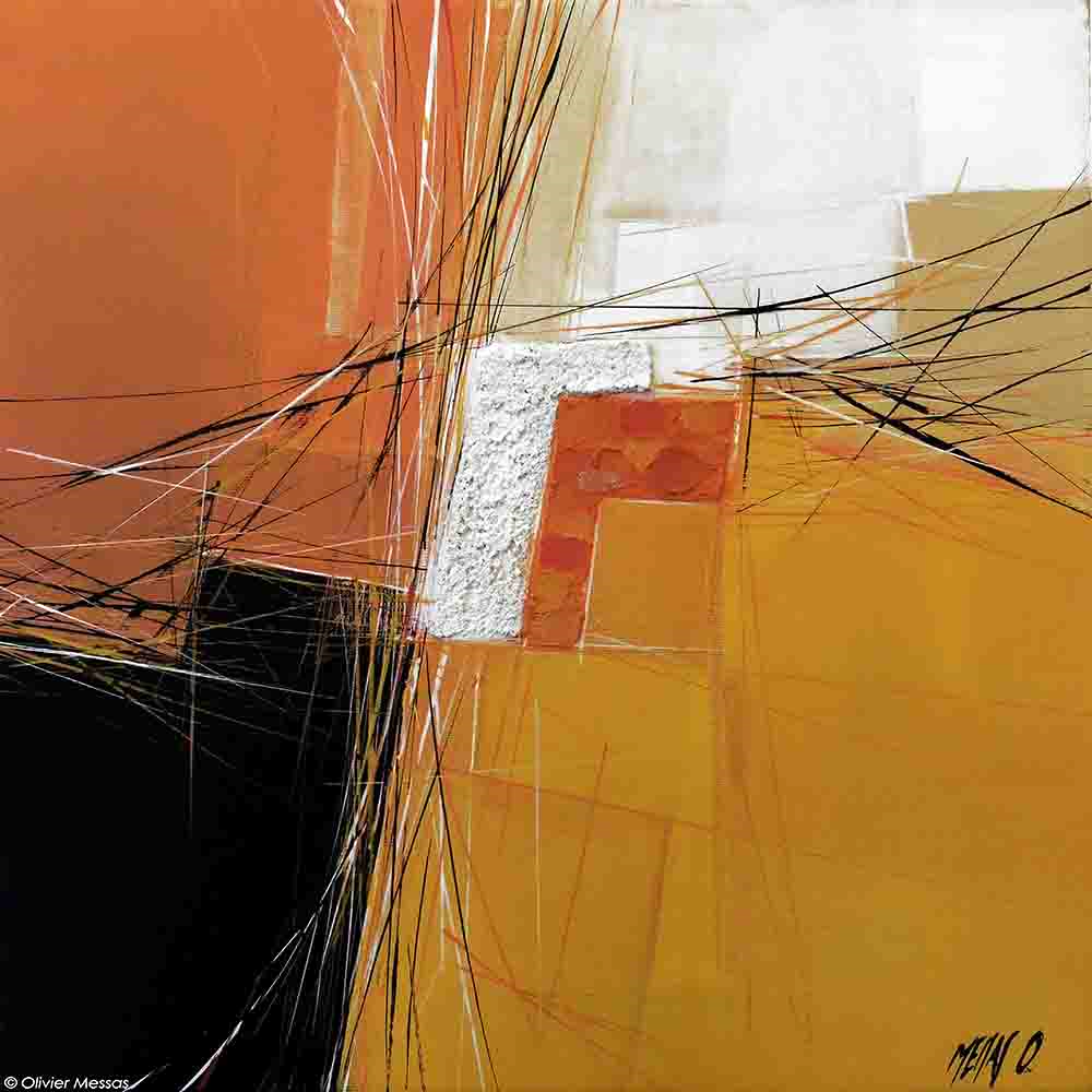 Paysage jaune, 40cm x 40cm