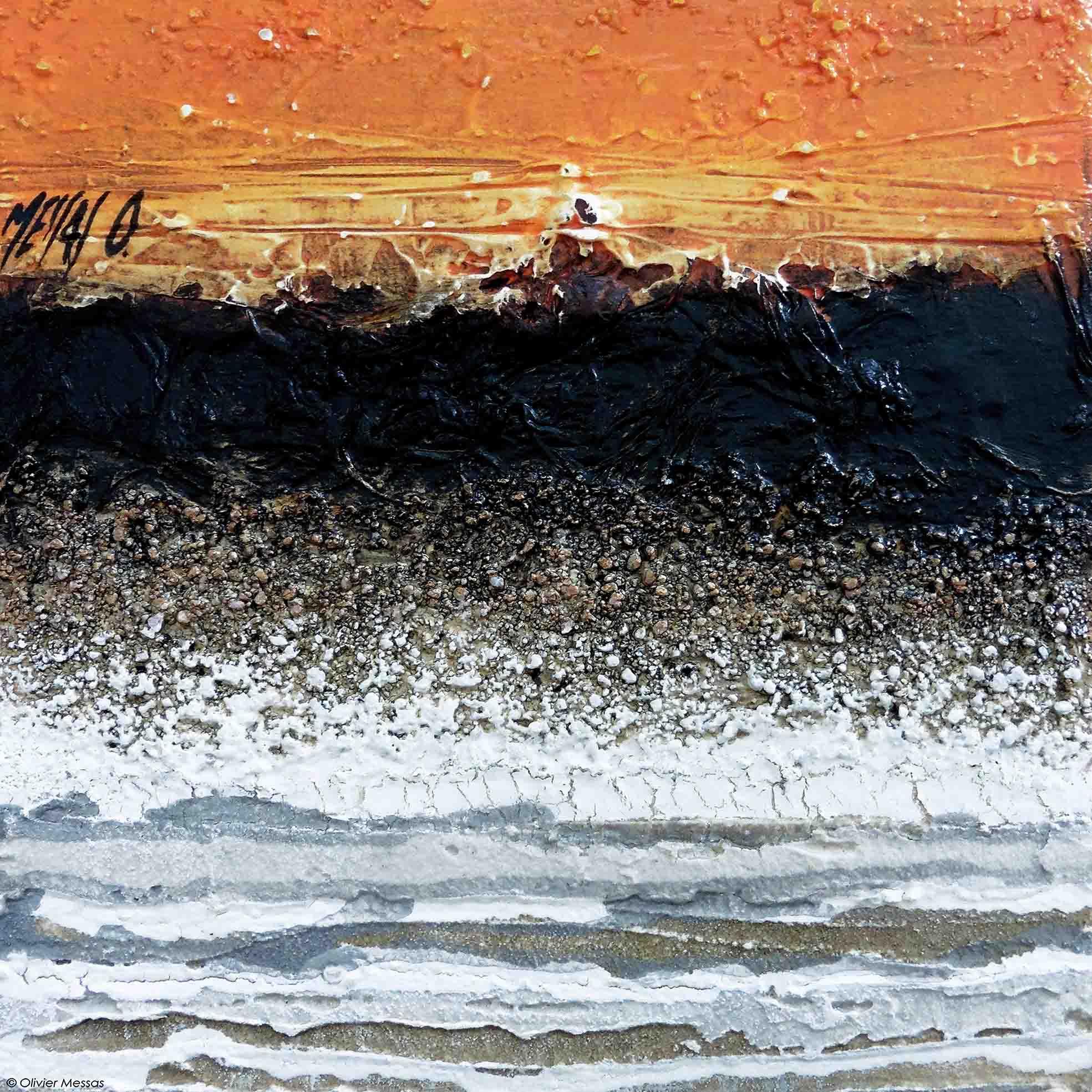 Atmosphere orange I,  20cm x 20cm