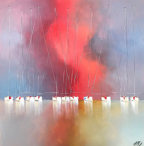Ciel d'ivresse... | 120x120cm