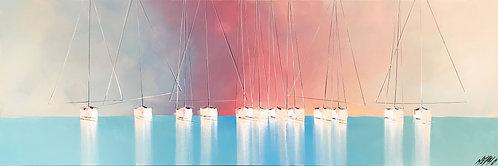 Douceurs en mer... | 50x150cm