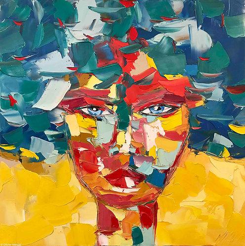 MARGOT | Portrait 002 | 80x80cm