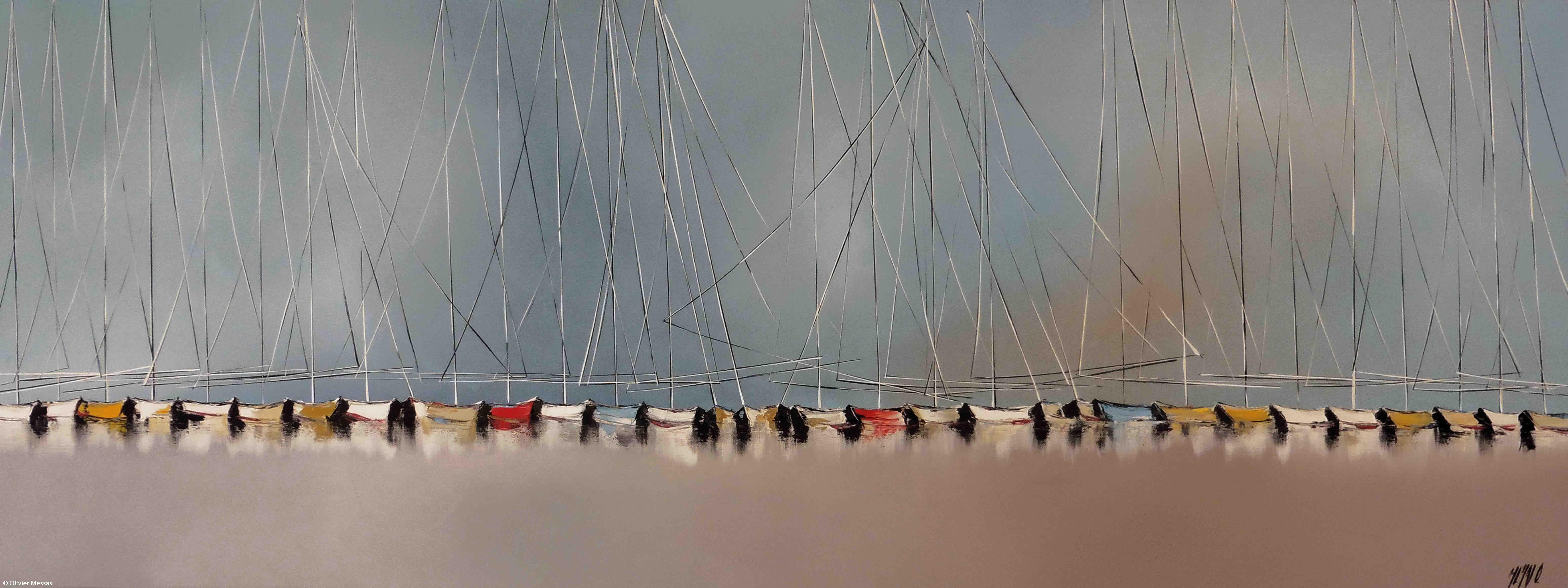 Histoire de voiliers IV, 60x160cm