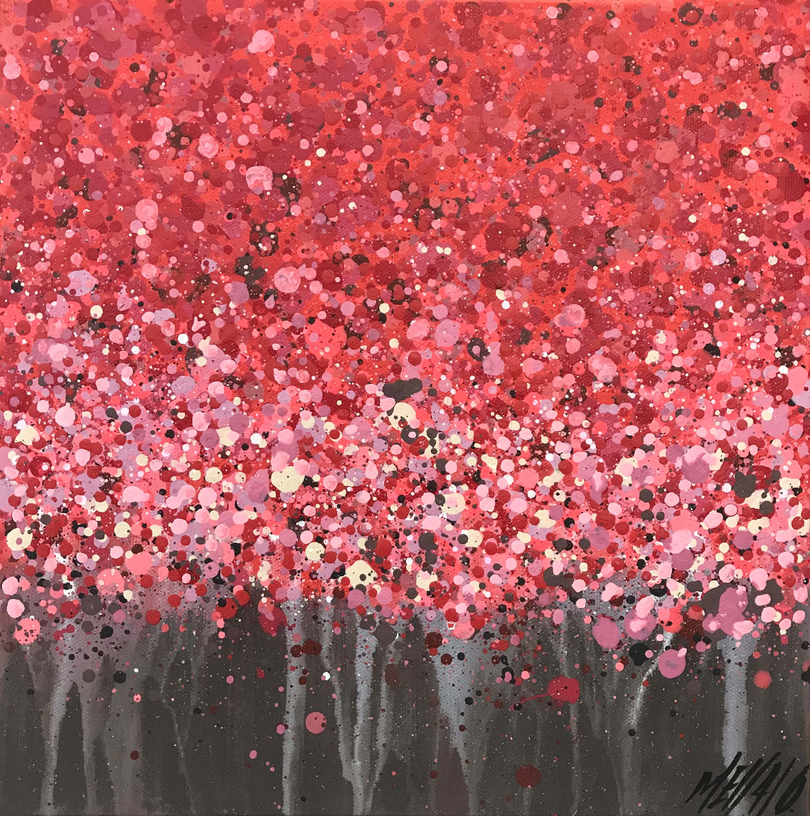 Le temps des cerisiers... | 30x30cm
