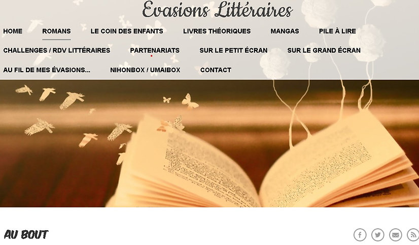 Avis Yumiko Blog Evasions littéraires en