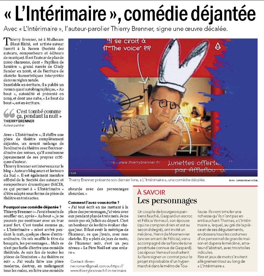 Article_l'intérimaire_Courrier_de_l'Oue