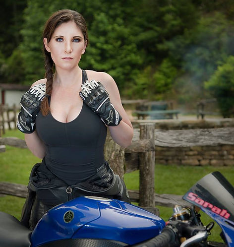 motorcycle influencer and blogger Sarah Merrell