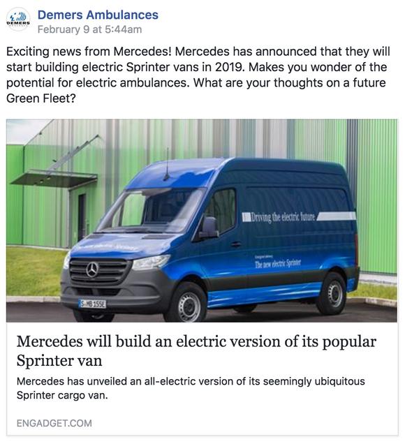 Mercedes To Build Electric Sprinter Van