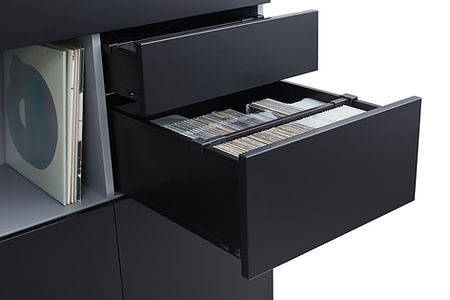 accessories drawers, cd collection