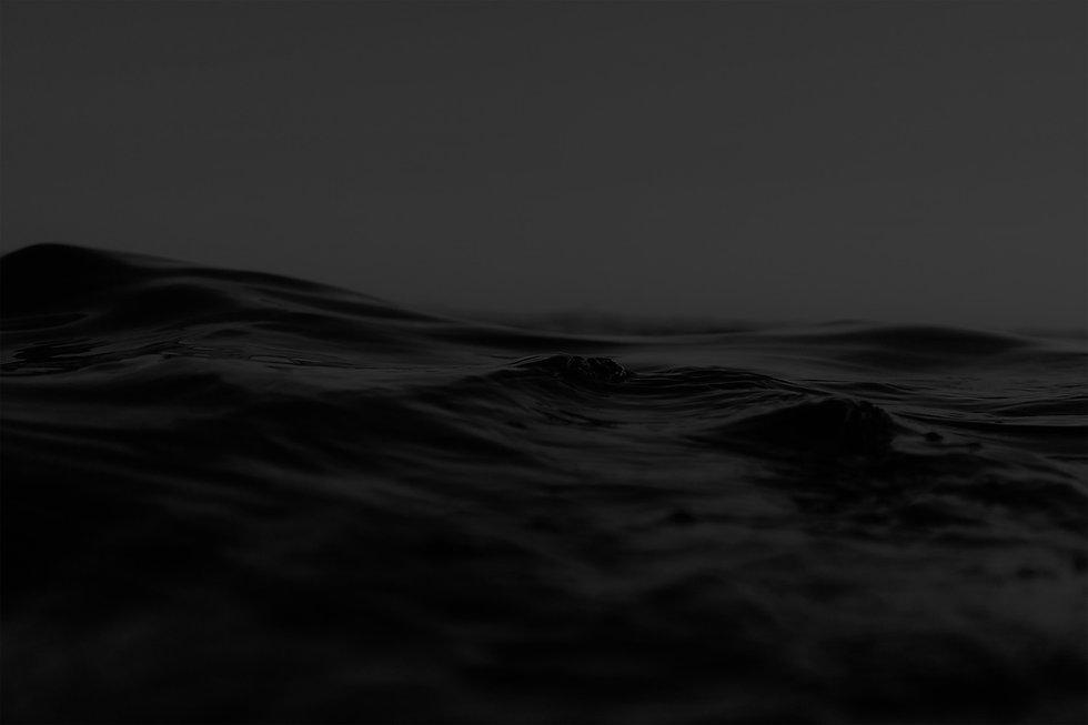 dark ocean waves close up